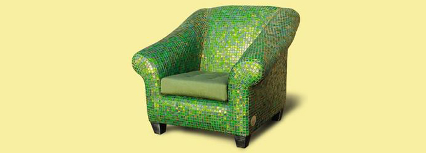 Glass tile with furniture