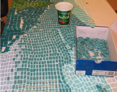 Bill Hoopes: Making a West Coast Mosaic 8 donated fused tiles