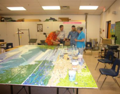 Bill Hoopes: Making a West Coast Mosaic 9 near completion