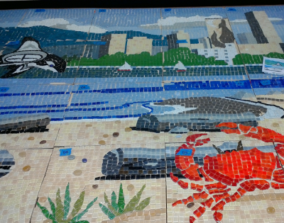 Bill Hoopes: McBride Annex Community Mosaic 6 Place Tiles