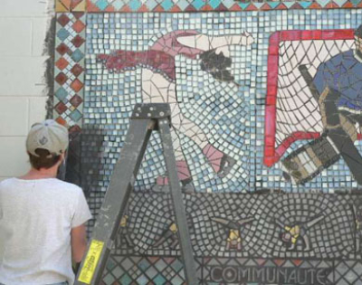 Connie Glover: Making a Community Mosaic 10 grouting