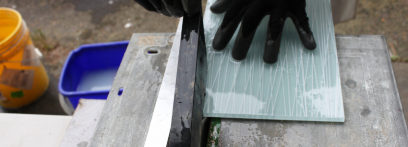 Cut glass tile with a wetsaw