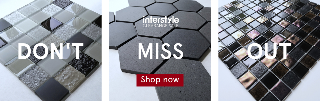 Don't miss out! Clearance tiles at Interstyle.
